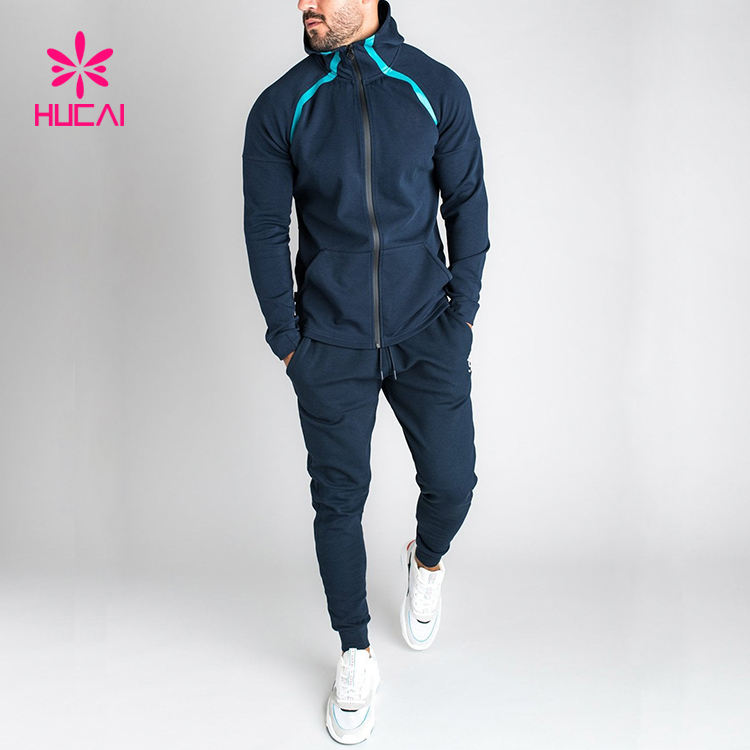 Custom Fleece Polyester Gym Sweat Suit Mens Sports Track Suit