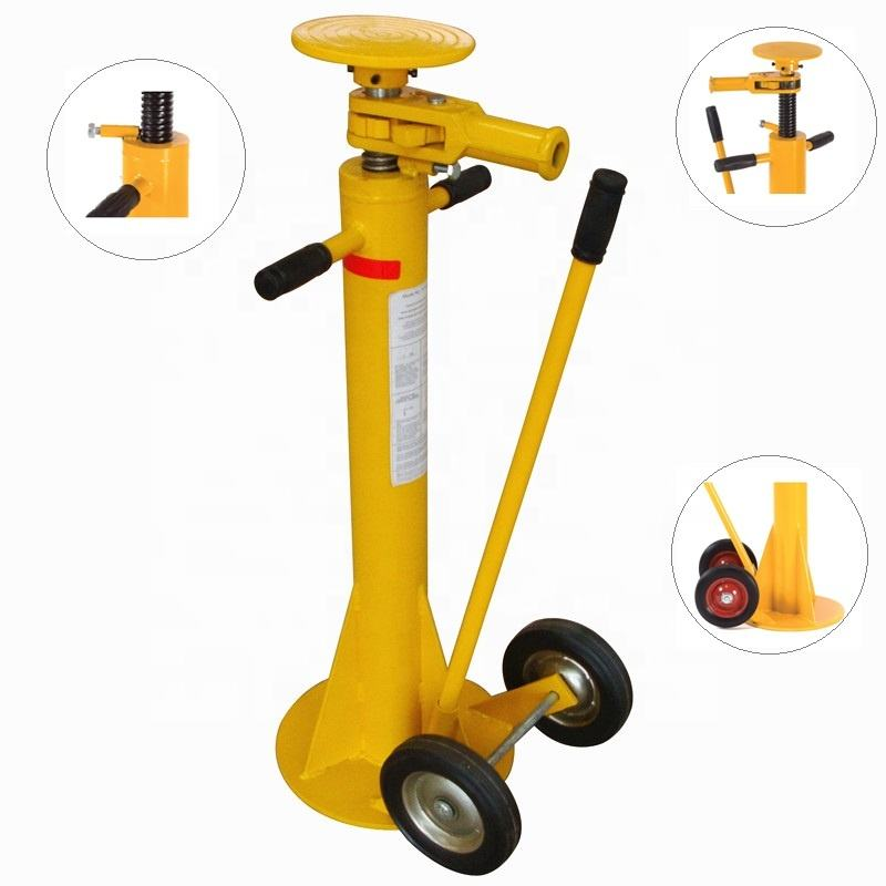 8'' Rubber Wheel Heavy Duty Trailer Lifting Stabilizer Jack For Sale Mechanical Ratchet Jack Stands Truck Jack Stand