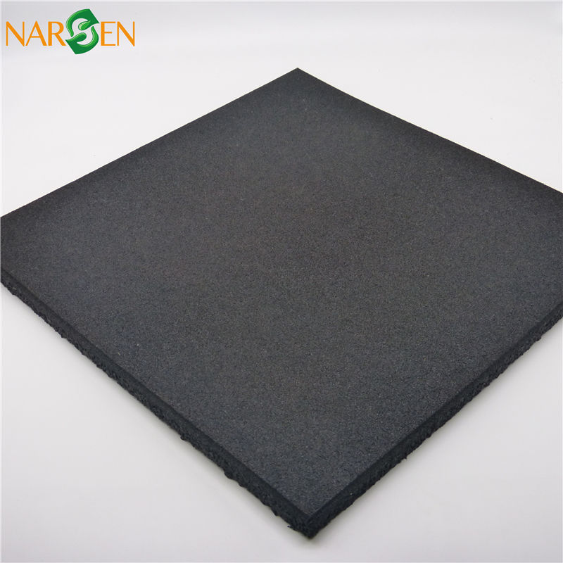 Indoor or outdoor Gym tile rubber mats gym black rubber flooring