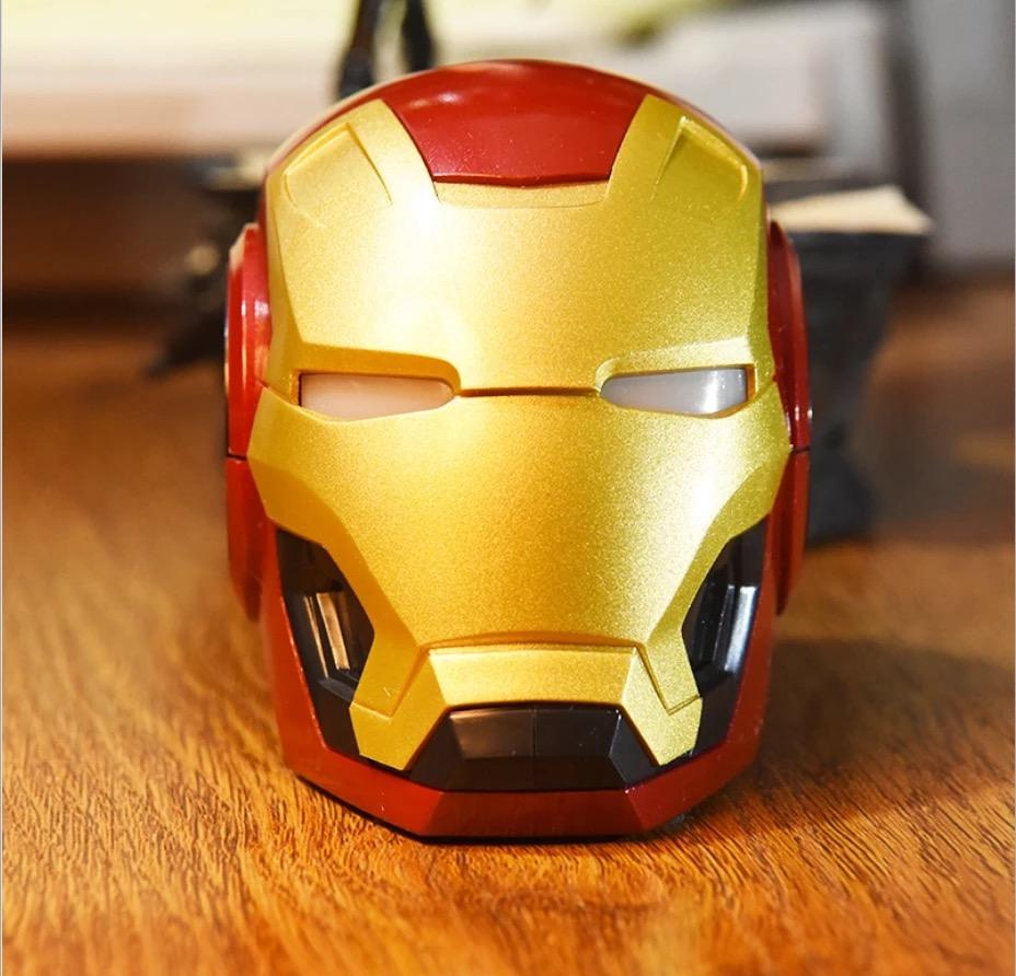2019 Inovasi Iron Man Speaker Fashion Suara Stereo Portabel Bluetooth Speaker dengan Suara Bass