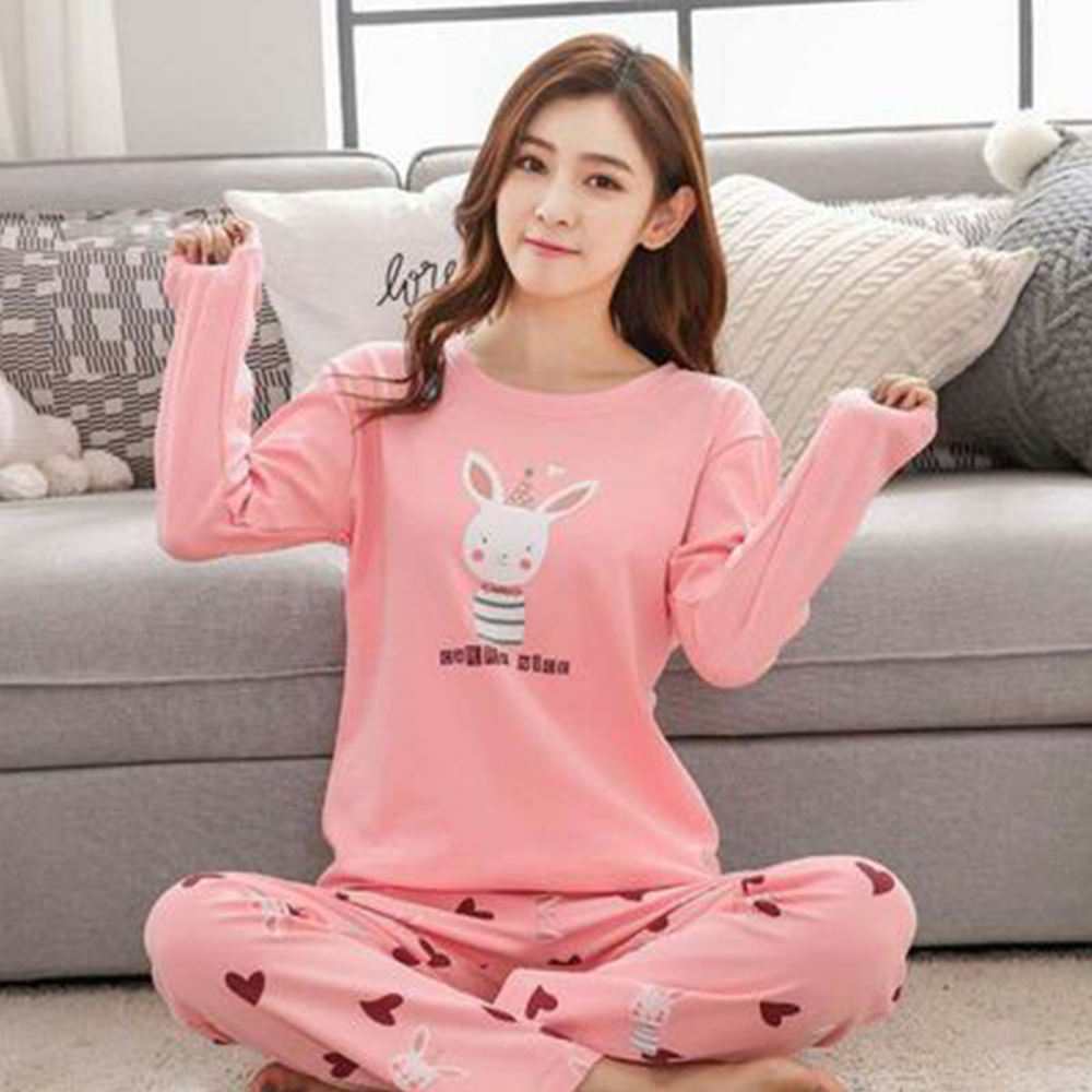 HSZ 001 girl comfortable winter women's sleepwear korea style two pieces sets pajamas nightwear ladies home wear costom