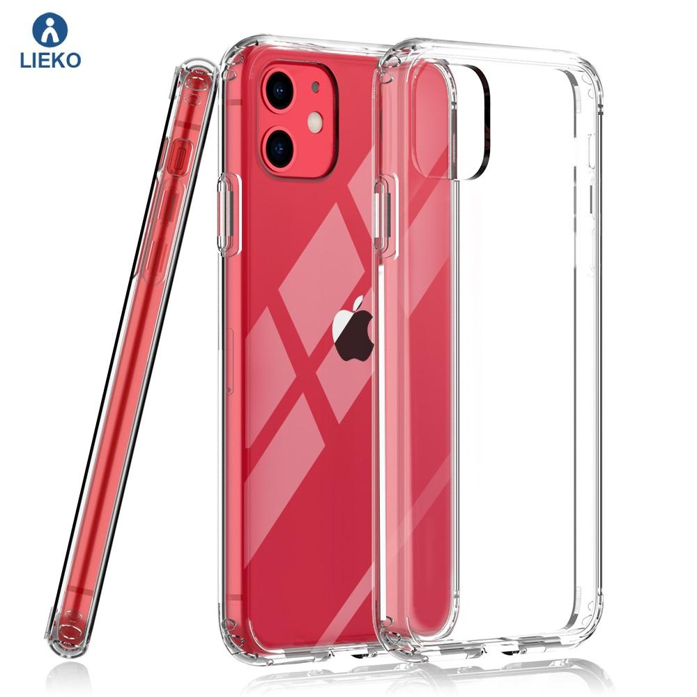 clear shockproof phone case TPU and hard acrylic transparent cellphone case for iphone 11 phone cover clear phone case