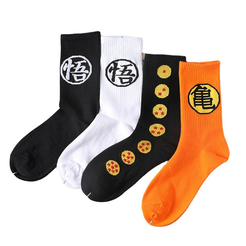 2020 chaussettes En Gros Hommes Femmes Couples Populaire Harajuku Dessin Animé Dragonball Goku Tortue Tube <span class=keywords><strong>Coton</strong></span> Skateboard Chaussettes Longues