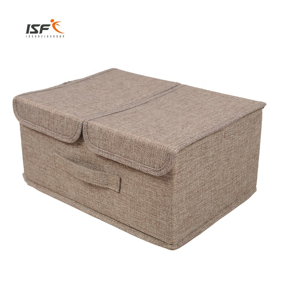 Clothes Fabric Storage Box Factory Wholesale Folding Bins storage box With Lid