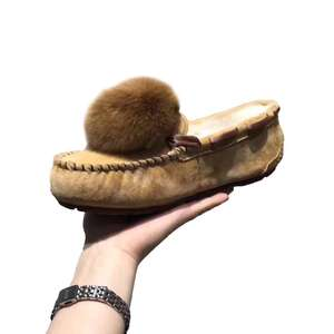 New fox fur ball women's snow boots comfortable with high quality