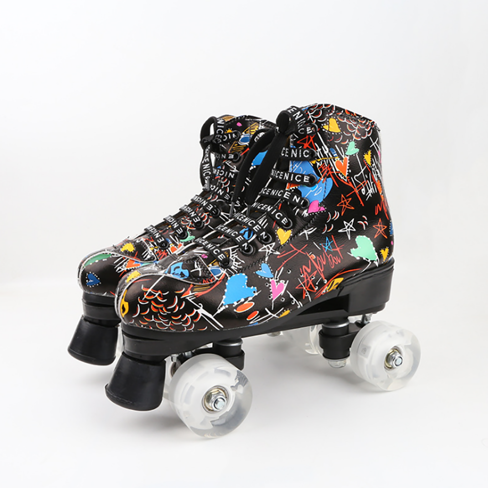 both skating and aport shoes for girl and boys simple wheel foldable roller skates shoes