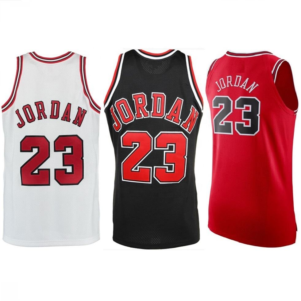 Hardwood Classic Jersey Sublimation Stitched Throwback #23 Jordan Basketball Jerseys