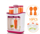 Fresh Fruit Juice Squeeze Station And Pouches Feeding Kit for Baby Food Maker Organisation