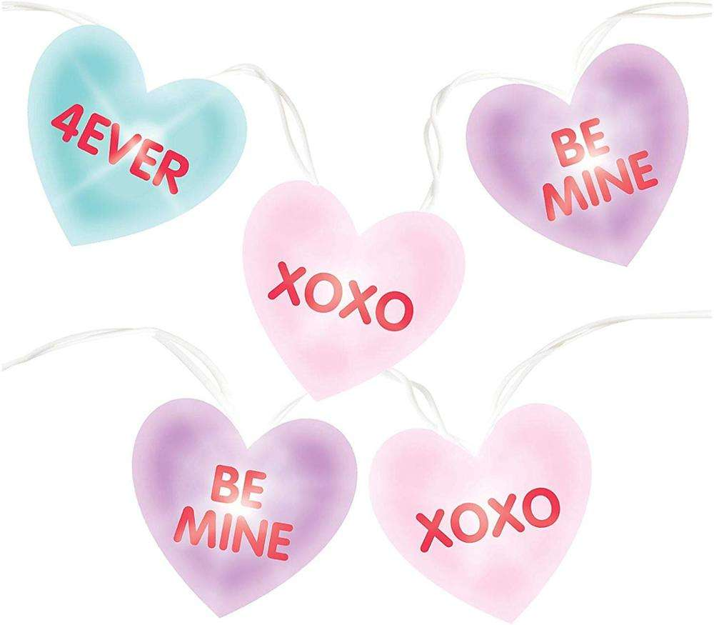 Battery Heart Shaped Letter Light String Fairy LED Wedding Love Decoration Lights Hanging Party Home Lights For Bedroom Wall