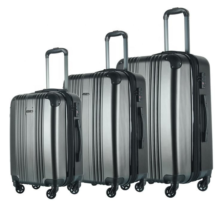 Expandable Lightweight carry on trolley 3pcs luggage suitcase koffer set baggage for travel