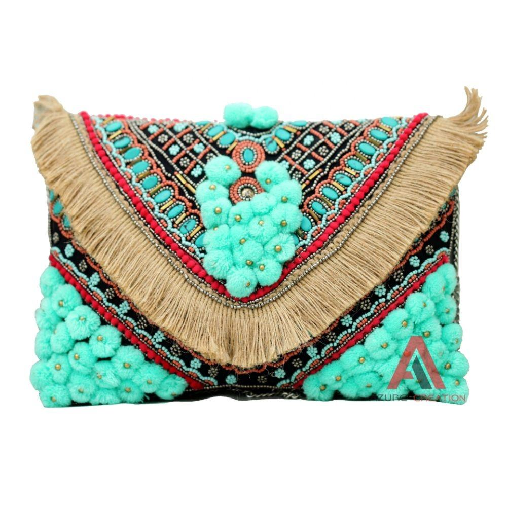 Handmade Indian Boho Banjara Bohemian Clutch and bag