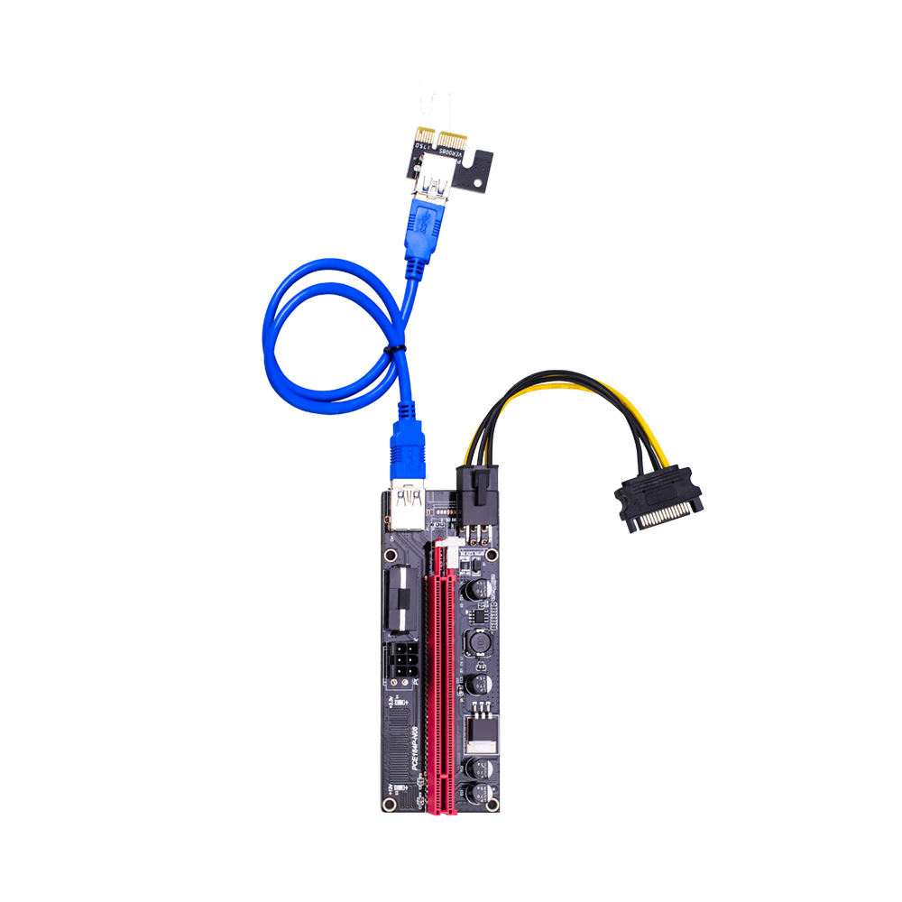 pcie VER009S PCI-E 1X to 16X 009 Card Extender Express Adapter USB 3.0 Cable Power gpu pci riser 009s