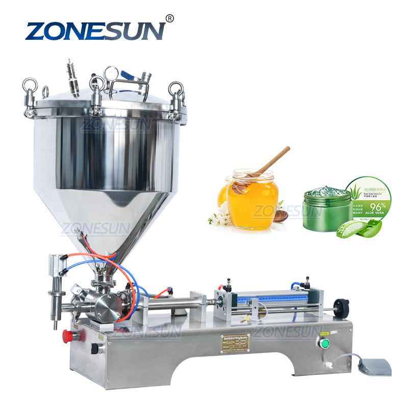 ZONESUN ZS-GTP1 Pressurized Hand Sanitizer Honey Sauce Cosmetic Gel Cream Paste Filling Machine
