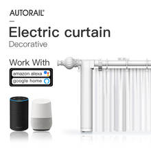 Smart home automation curtain wifi electric curtain motor with curtain rod