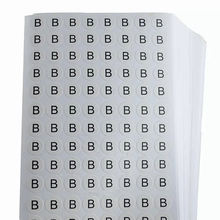 Wholesale Custom English Vinyl Number Letter Alphabet Sheet Stickers