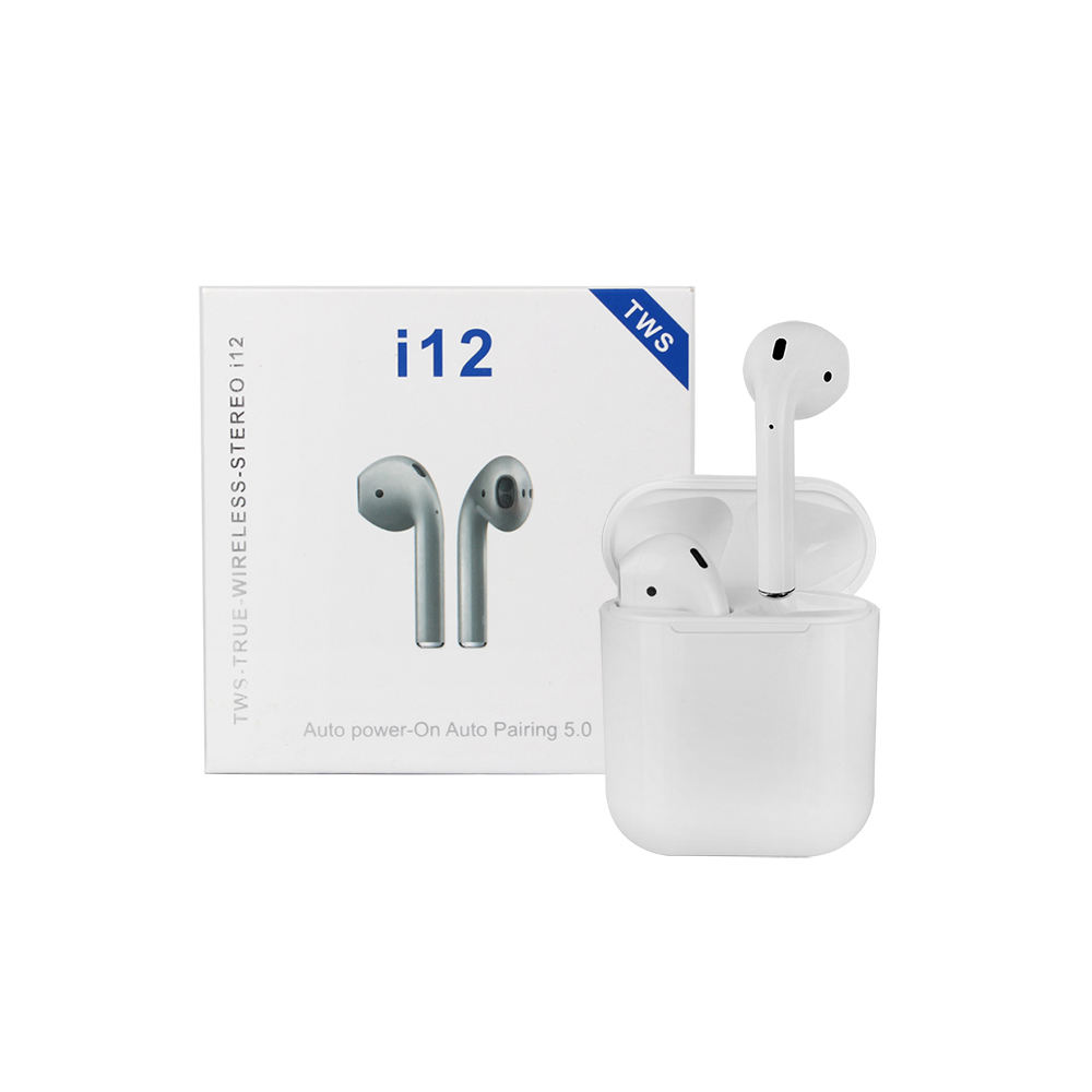 2019 Upgraded Auto Pop Up Window i 12 TWS i12 TWS Wireless Bluetooth Earphones Headphones Earbuds For iOS Android