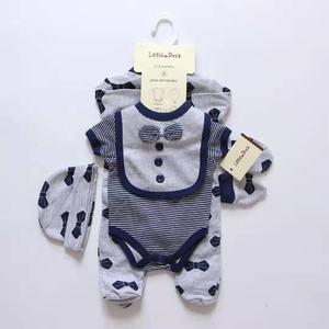 5 pcs newborn baby clothes outfit gift romper jumpsuit bodyjump bib wholesale kids clothes bouqieus 100 % cotton boutiques