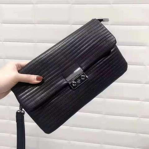 2020 New Design Retro Dumpling Clutch Bag Genuine Leather