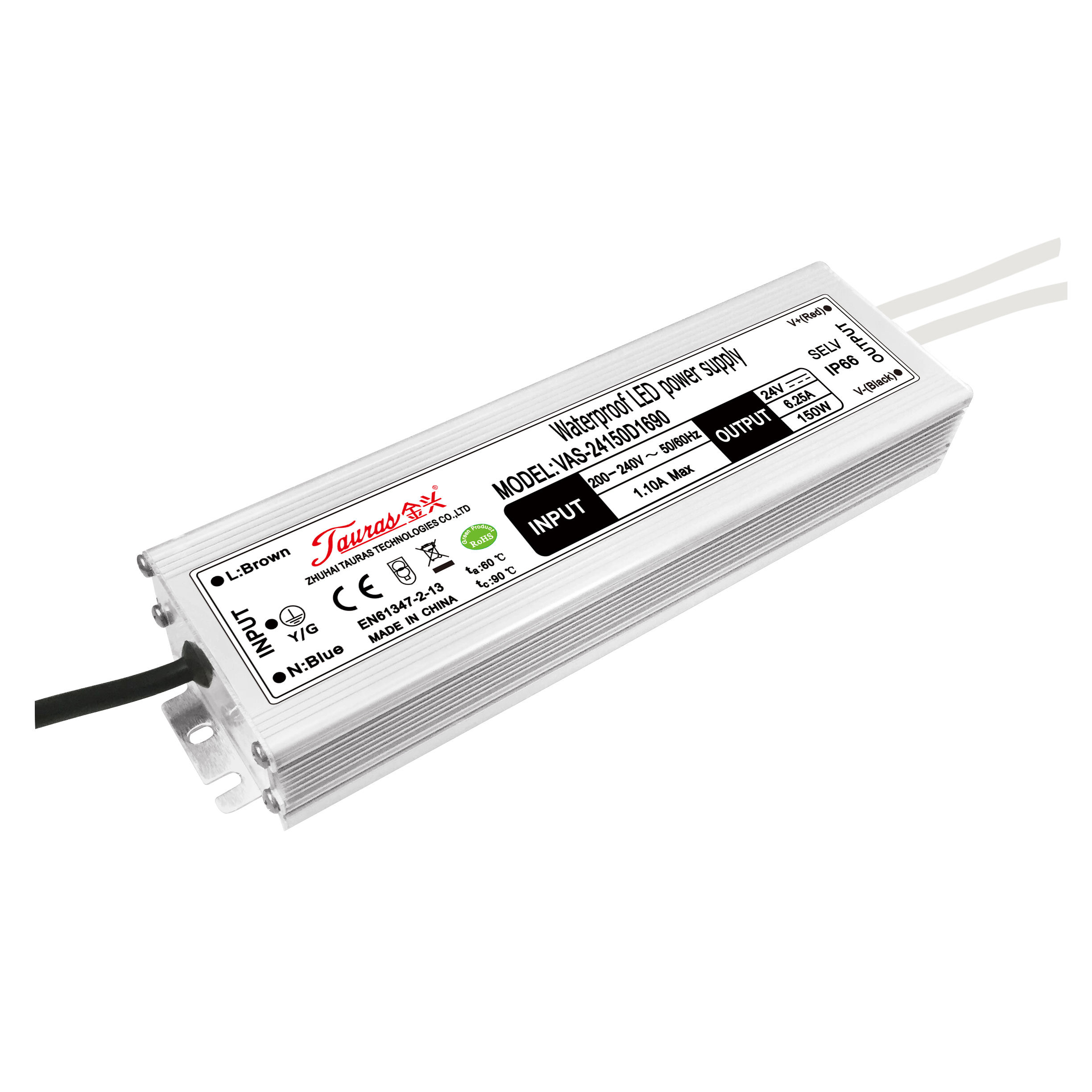 24v 6.25a 150w constant voltage LED driver waterproof IP67 LED power supply for LED strips