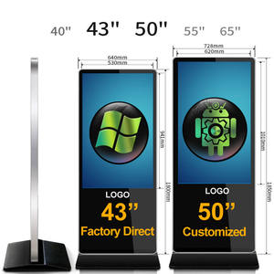 50 Inch Lcd HD Indoor Touch Digital Signboard Vertical Floor Standing Advertising Display Android and windows