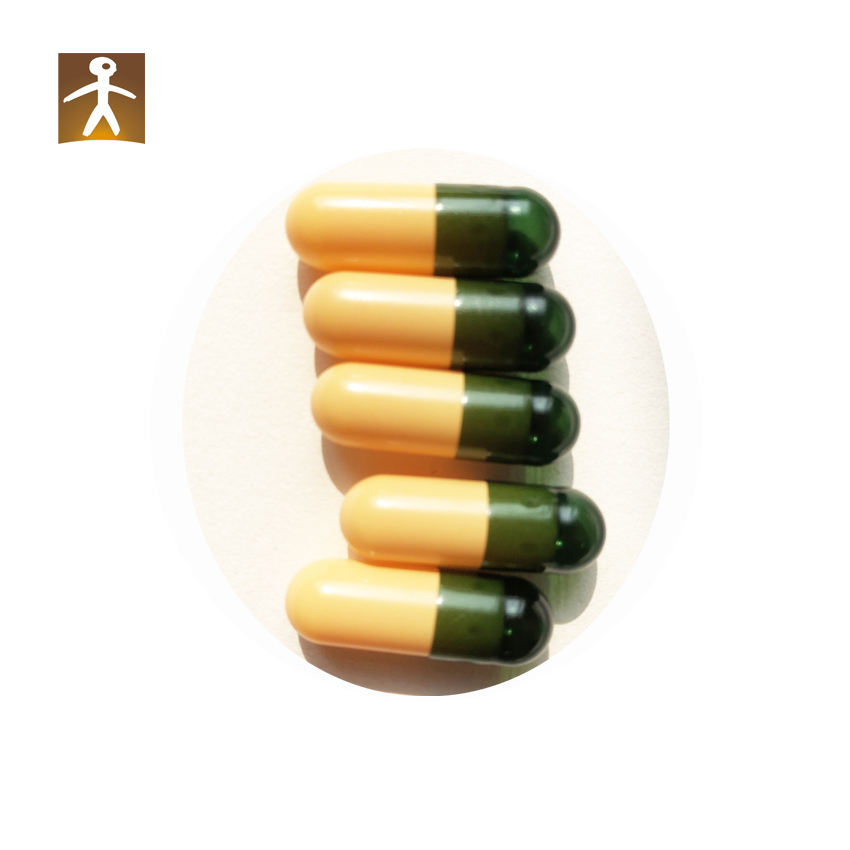 vacant veggie hard capsules green and yellow cellulose hpmc vegetable capsules