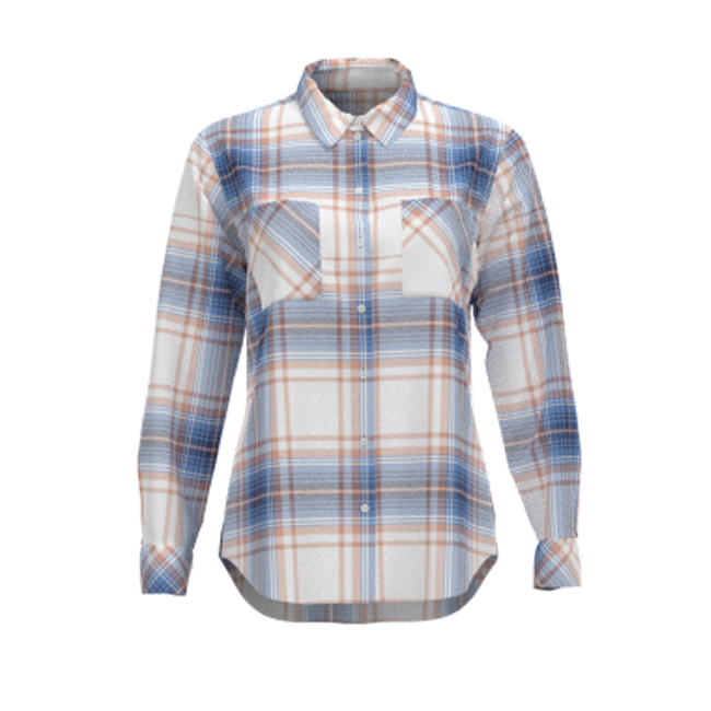 Supplier Spring 100% Rayon Spring Women Shirt Blouse White Plaid Women Long Sleeve Top
