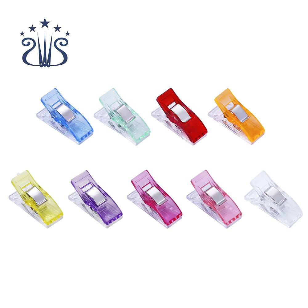 RTS Multipurpose Small Plastic Clips Colorful Cloth Clips for Sewing Patchwork Crafts With A Jar Packing