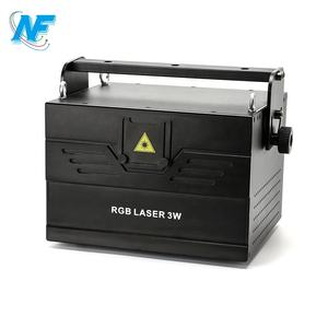 Stage Lighting DMX Dj / Disco ILDA Laser Light Projector 3000mw 15kpps 3w Green Animation Lazer