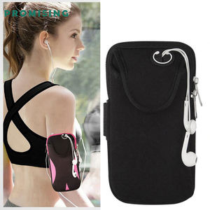 Promising Outdoor Universal Custom Logo Neoprene Jogging GYM Fitness Workout Running Sport Armband for Cell Phone