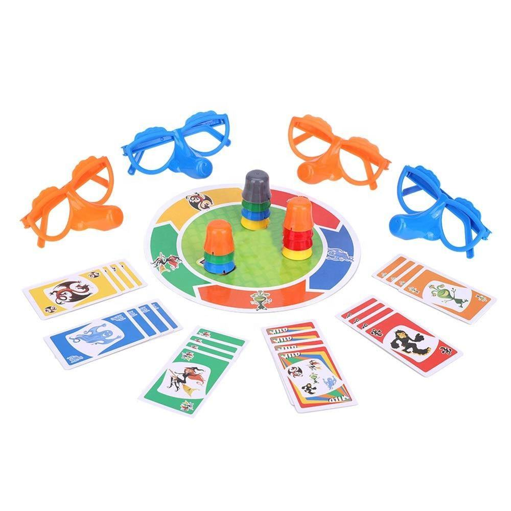 Interesting Family Interactive Toy 007-47 Liar Game Fibber Board Game Include Funny GlassesとCards Growing Nose Game For Kids