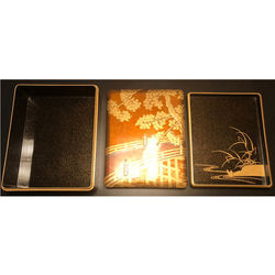 Exquisitly Designed Handcraft Gold And Black Wooden Lacquered Gift Box