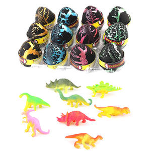 wholesale custom cute Mini Dinosaur inflating Toys in Easter Eggs for kids