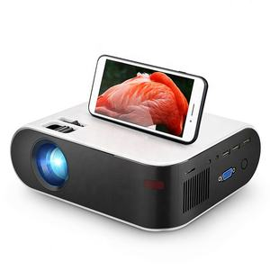 [Hot 720P Proyektor] OEM ODM Pabrik Asli 720P HD Penuh Mini LED LCD Video Film film Portable Home Theater Proyektor