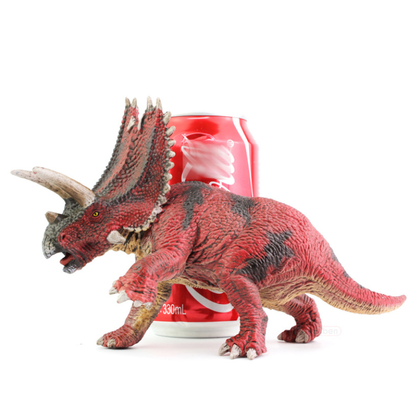 2021 new Hot Sale Plastic PVC Jurassic Triceratops Dinosaur Figure Model Toys Ancient Animal Figure Gift Toy Customized