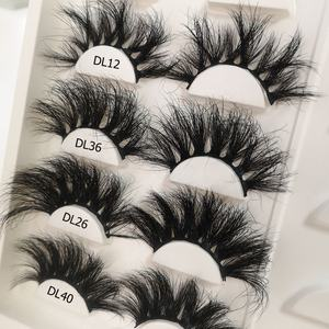 lashes3d wholesale vendor 25mm full strip lashes 3D Real Mink Lashes Multilayer Soft Thick False Eyelashes mink lashes3d wholesa