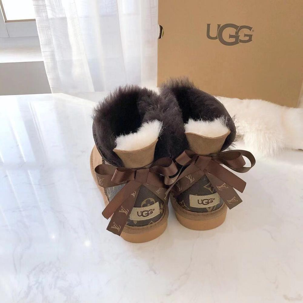 Women Fancy Winter Snow boots fashion 2013 Outdoor Sheepskin Fur Lining Bailey Bow Sheep Skin brands wool Boots