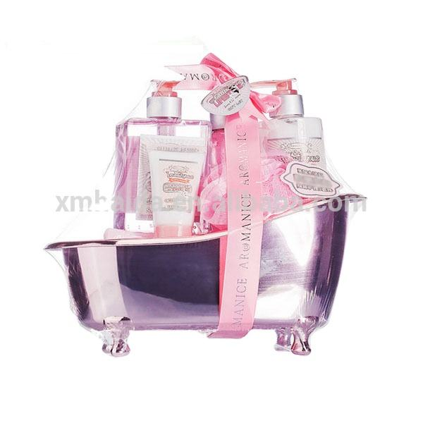 Lovely bath Gift Sets in tub bath spa baskets