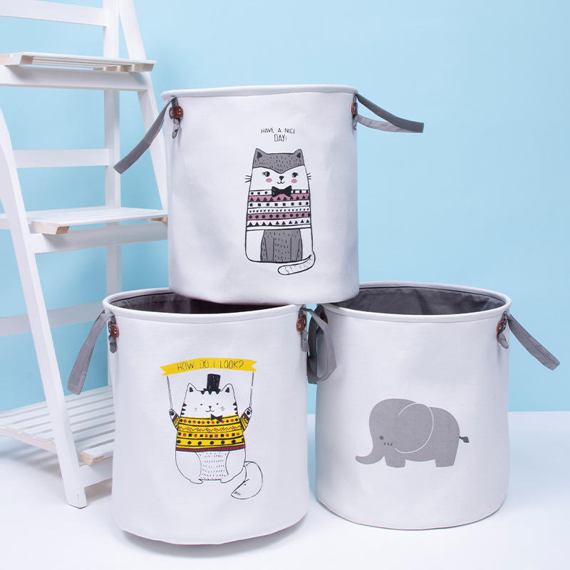 Large capacity storage bag pvc material high quality storage boxes cute pattern kitchen storage
