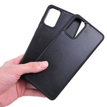 Manufacturer Wholesale fashion hybrid 2in1 Groove blank Case for Samsung Galaxy S20 Ultra inlay leather case for S20 plus