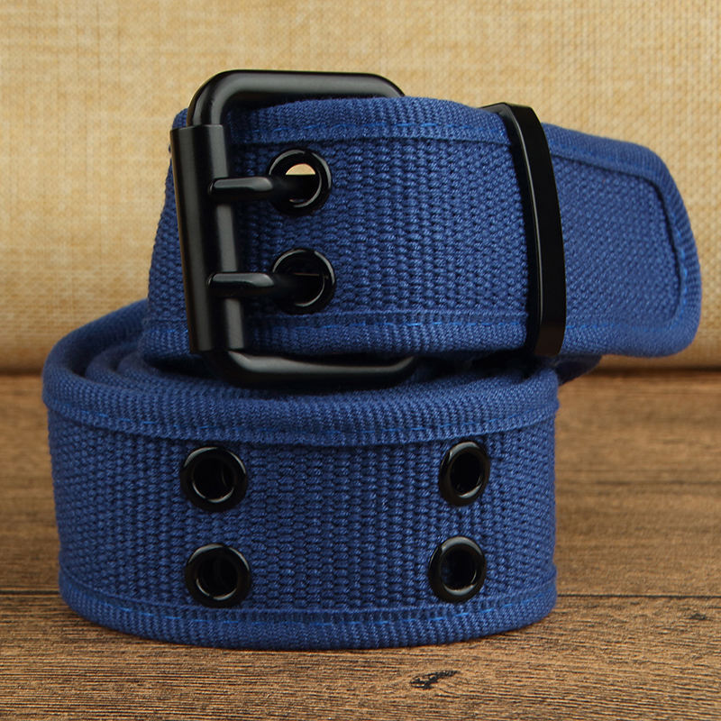 Custom Printed Cotton web belt with metal buckle for men