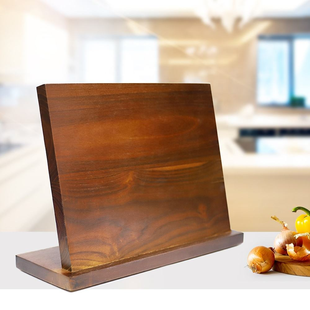 Wooden Magnetic Knife Set Block Stand Universal Knife Holder Knife Block Holder