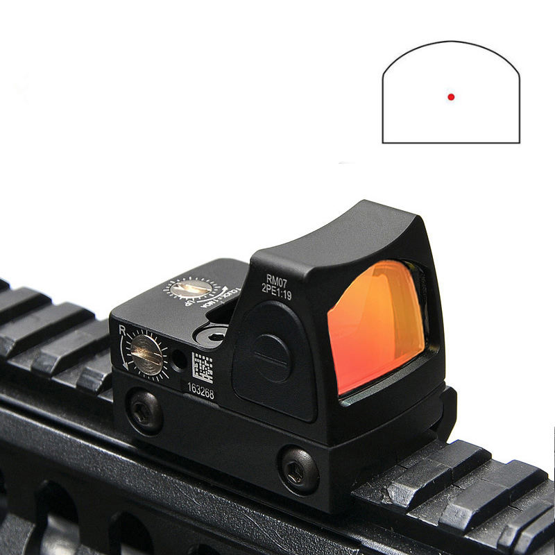 Mini RMR Red Dot Sight Collimator Rifle Reflex Sight Scope Fit 20 Mm Weaver Rail Voor Airsoft/ hunting Rifle