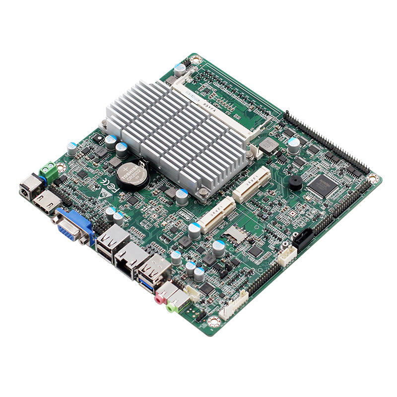 Quad core j1900 CPU 2g RAM motherboard fanless cooler for apple all in one pc with 2*lan and onboard EMMC on the back