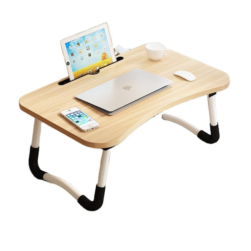 folding wooden computer table on bed and sofa for kid