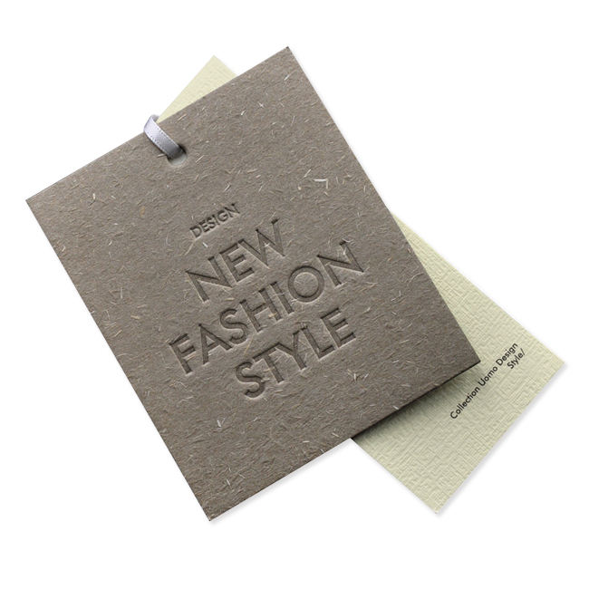 custom logo tag Paper Clothing Tags for Clothes