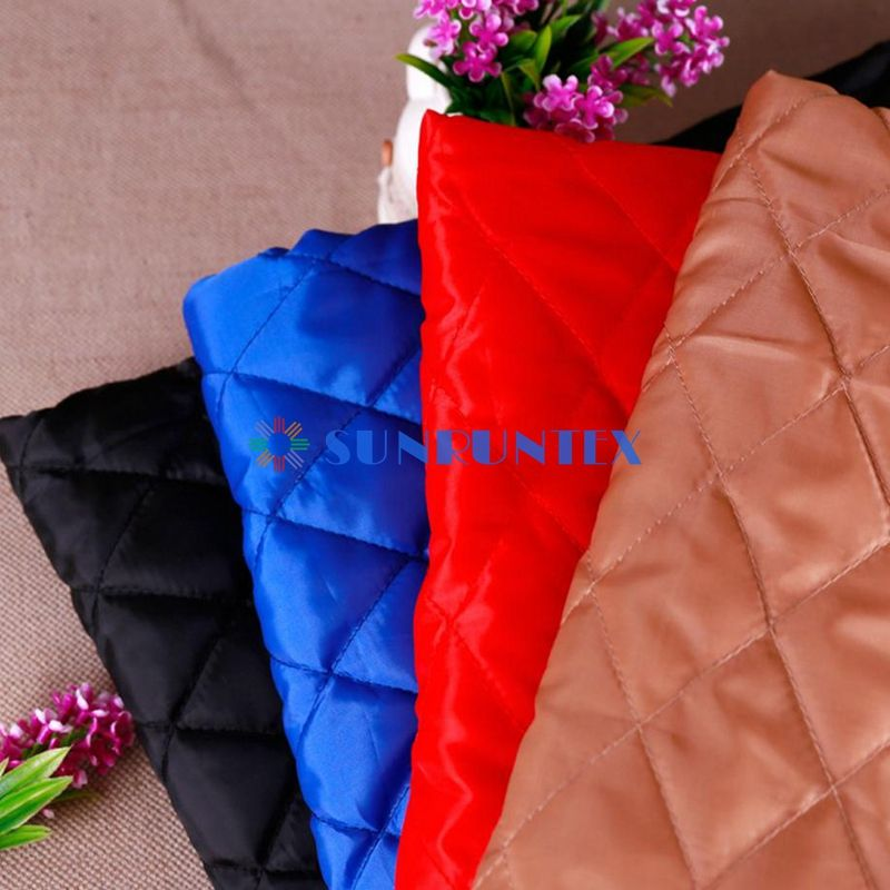 high quality various color quilted satin fabric
