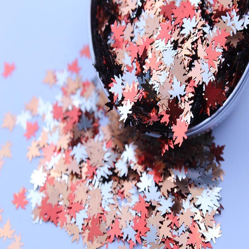 Special Leaf Shapes Chunky Glitter for Christmas Festival Arts