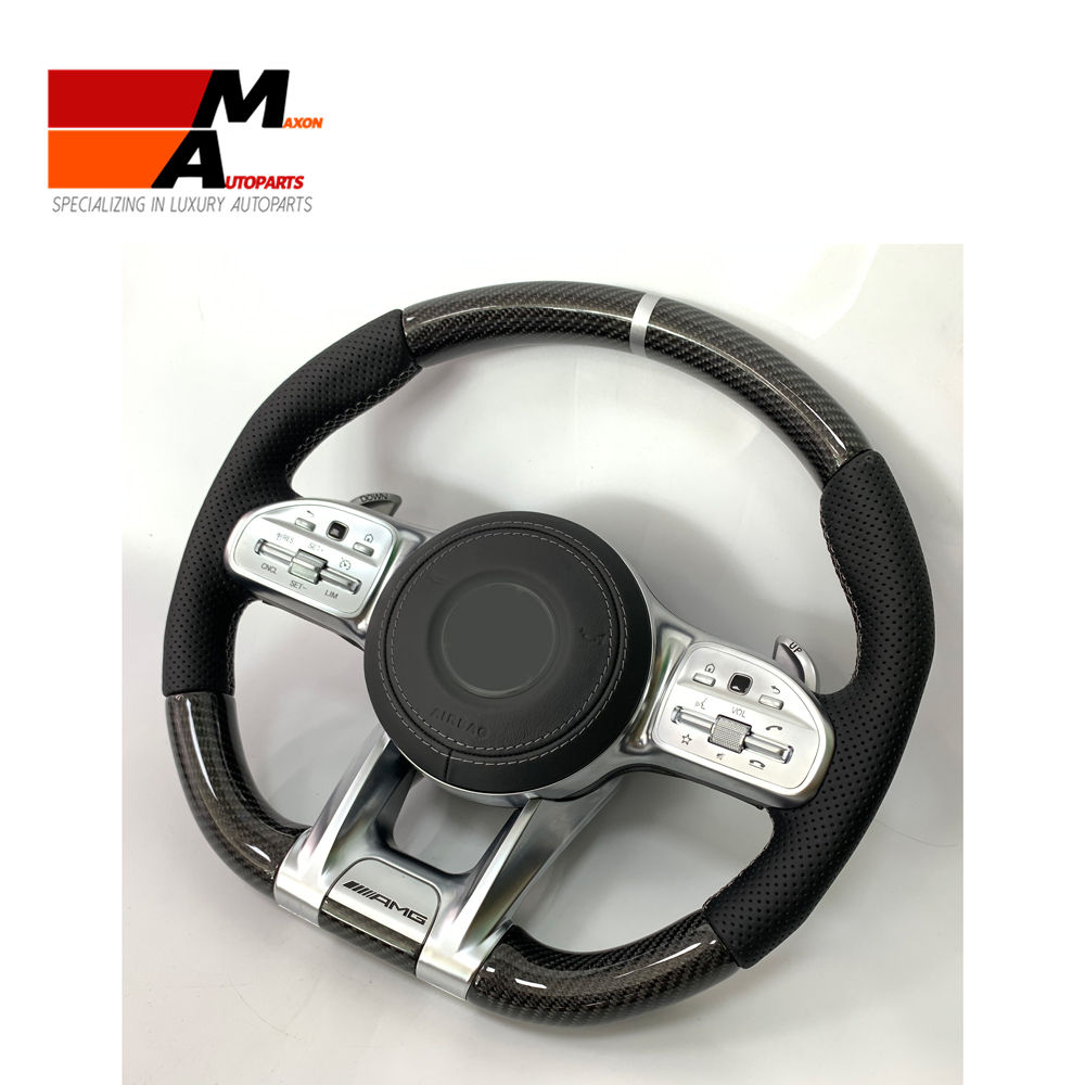 Display Steering-Wheel Carbon-Fiber C/E/S Class LED Compatible 100%Real