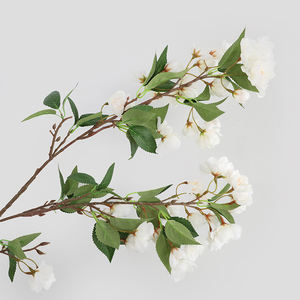 China supplier artificial pink japanese plastic cherry blossom wedding Decorative artificial silk flowers