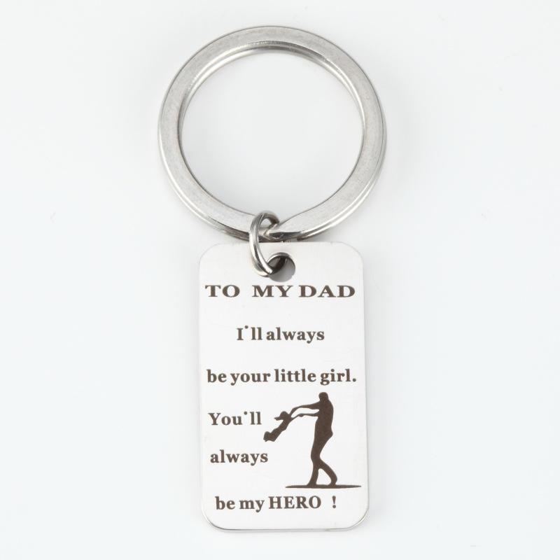 SAF jewelry wholesale company stainless steel father's day gift keychain ring